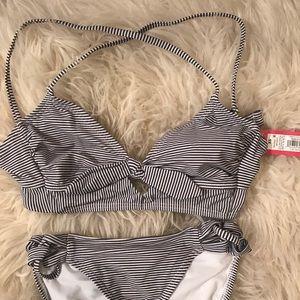 Xhiliration striped bikini size xs